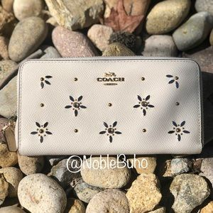 COACH Accordion Zip Wallet With Allover Studs